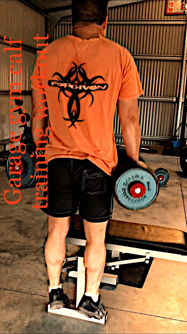 Dumbbell calf raise shrug